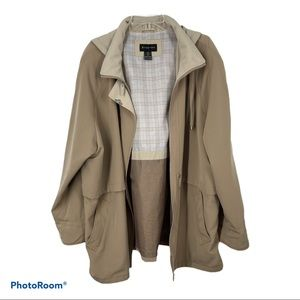 BRAETAN women's jacket, camel/beige, 2X/18W/20W